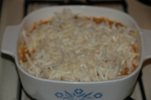 Hash browns thawed and ready for mixing bowl