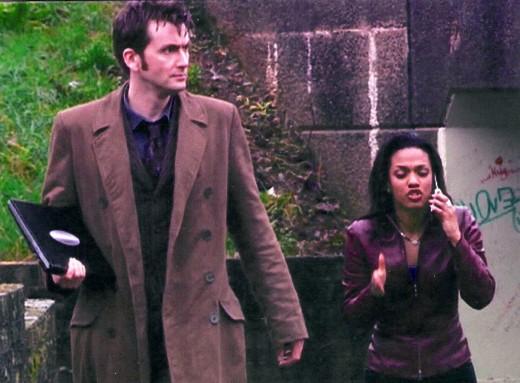 David Tennant as The Doctor and Freema Agyman as Martha Jones
