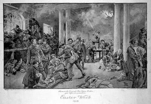 Irish Soldiers at the GPO on Easter Week