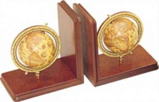 Globe bookends from rexanne.com