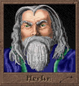 Merlin is one of the 12 wizards you can play as in Master of Magic.
