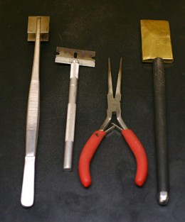 Flamworking hand tools © Janet Crosby