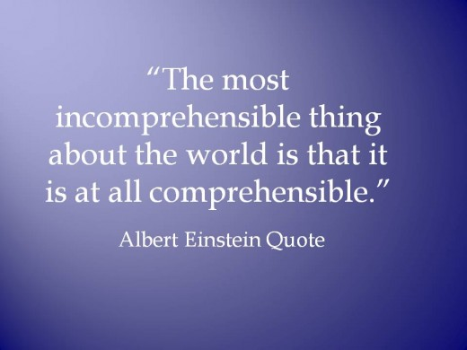 Famous quote by Albert Einstein about the world