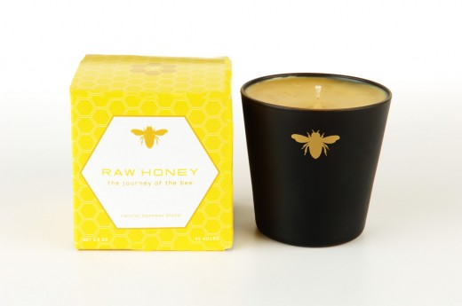 A beautiful beeswax candle made by Paddywax
