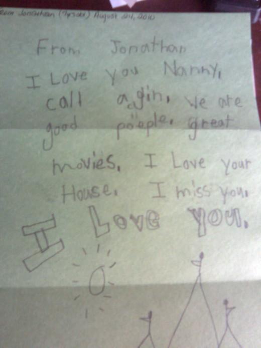 Love Letter From Jonathan