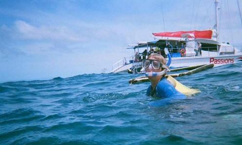 My Sheila in open water