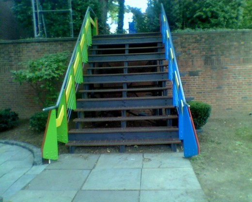 Stairs at the park across from RISD