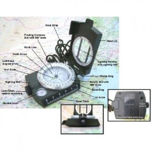 """SE Military (Prismatic) Lansatic Compass, 2-1/8"""" Dia. Face"""