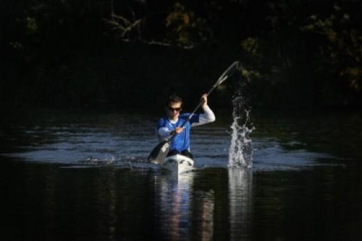 Canoeing in New Zealand.