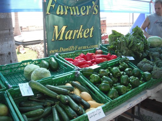 The freshest foods are found at your local farmer's market!