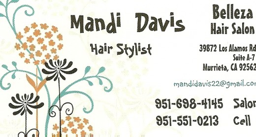 Call Mandi and schedule your hair appointment today