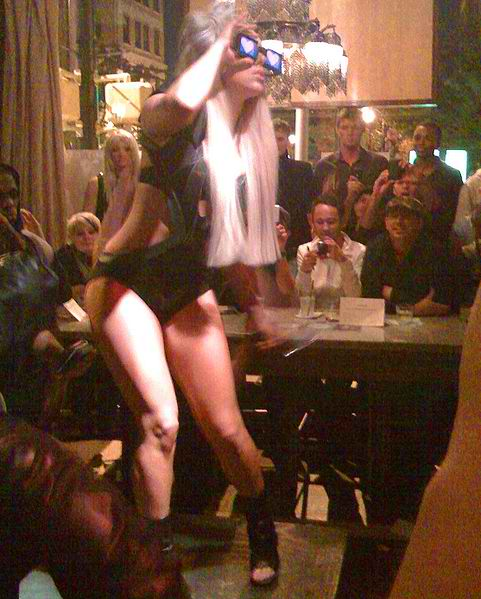"Lady Gaga performing at ""the Bazaar"" in Atlanta"