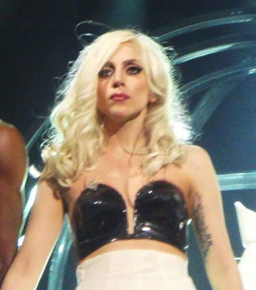 Gaga on The Monster Ball Tour in Toronto (November 28, 2009)