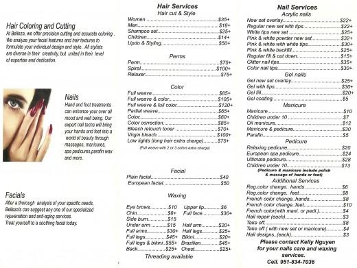 Hair Design Institute Price List 60