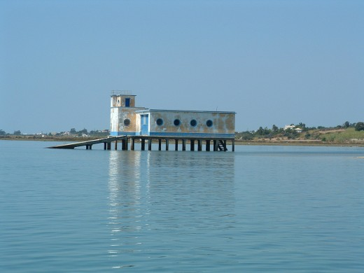 Old house in the middle of the Ria Formosa