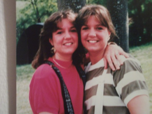 Laura on left, Me (Linda)on Right