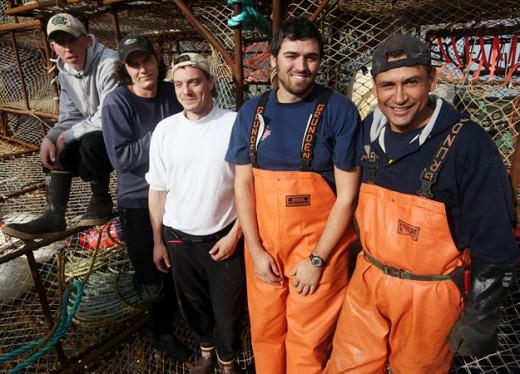 Kodiak crew during King crab season.