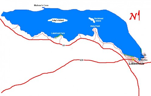 Map of the Lake Lulawissie area.
