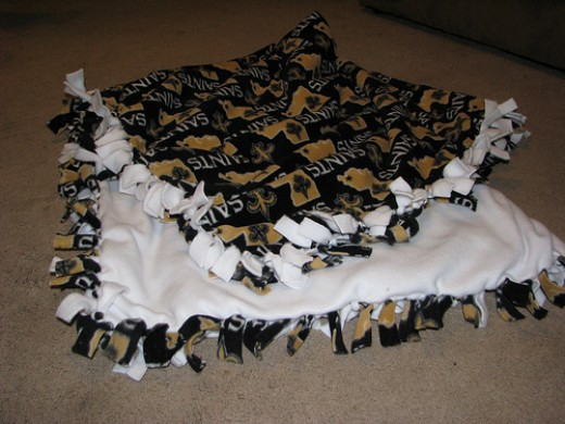 This obviously might not be the choice fabric, but this is a perfect example of the type of blanket I mean.