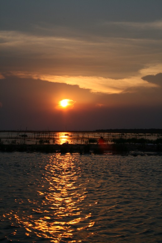 Sunset on Tonle Sap