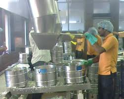 Packing At Hygienic kitchen of Akshaya Patra