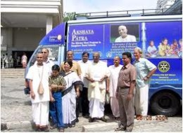 Akshaya Patra Delivery Van used to transport meals to schools on time