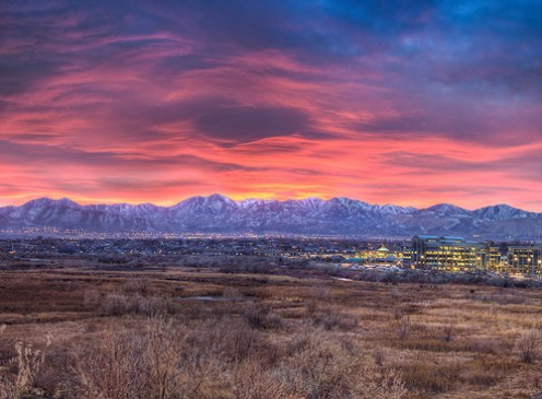 Sunset at South Jordan, Utah.