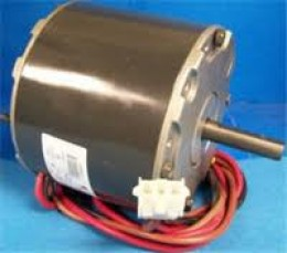 A condenser fan motor not in a condenser, and without a fan blade.