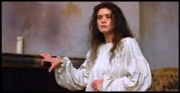Maria Schneider as Bertha Mason in the 1996 film version of Jane Eyre
