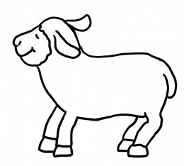 Pin sheep craft template on pinterest for Lamb cut out template