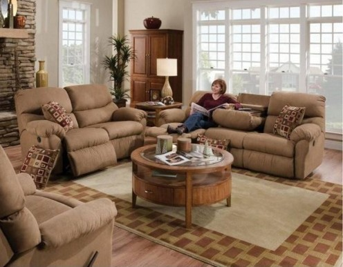 sectional leather recliner