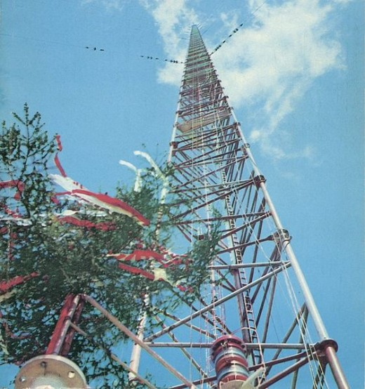 Radio mast courtesy of Wikimedia Commons.