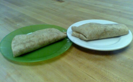 2 burritos from last night's common dinner