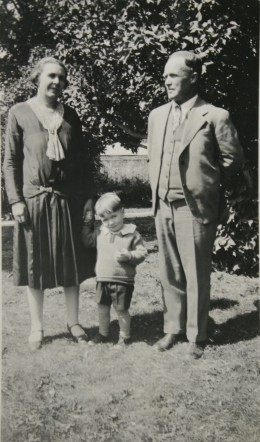 My father and his grandparents.