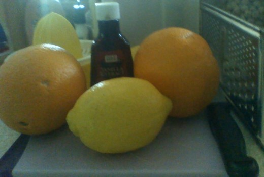 Ingredients for homemade orange soda