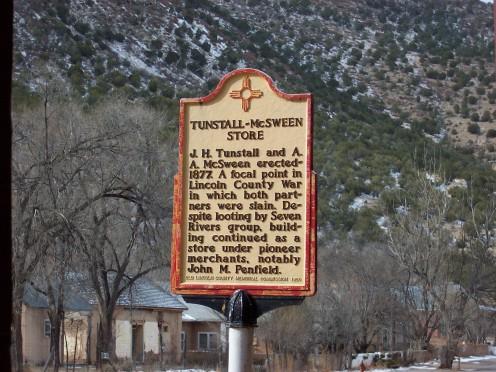Tunstal-McSween Historical Marker