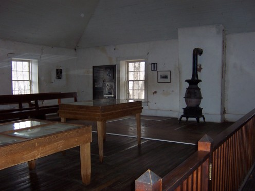 Inside of the Murphy's store after it was turned into a Court House.