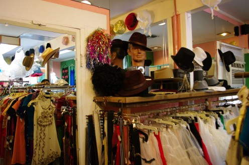 Hats, accessories and museum quality clothing at Desert Vintage.