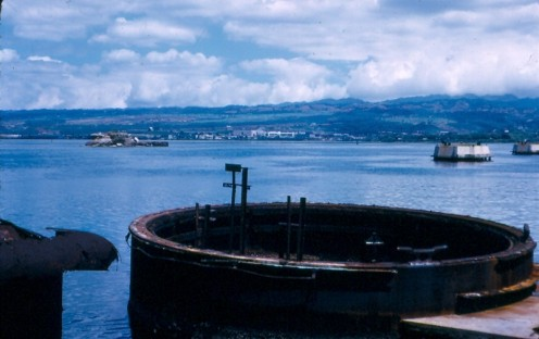 The USS Arizona, Pearl Harbor, Hawaii.