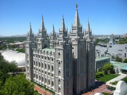 The center of Temple Square is the Salt Lake Temple.