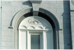 Seen on the east and west sides of the Salt Lake Temple.