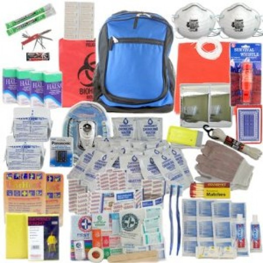 Deluxe 2-Person by SurvivalKitsOnline  Perfect Survival Kit for Emergency Disaster Preparedness for Earthquake, Hurricane, Fire, Evacuations, Auto, Home and Family