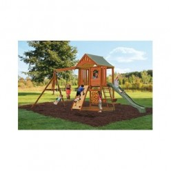 Playground Equipment - Swing - Wooden Swing Set as Playground Equipment