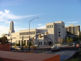 Located just north of the Salt Lake Temple is the LDS Conference Center.