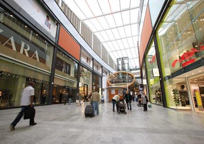 The main walkway is like an indoor high street