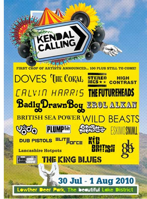 Kendal Calling 2010 festival poster.