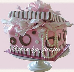 Gift box cake:)