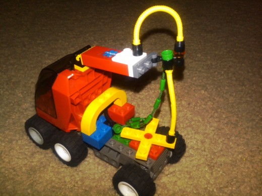 My four-year-old's most recent LEGO creations.  What can I say?  I'm a proud mama...
