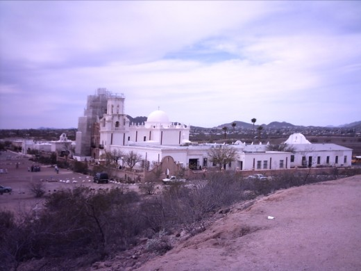 Mission San Xavier in Tucson, Arizona