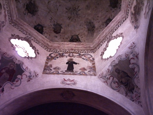 View of Ceiling of Dome of the Mission Church San Xavier del Bac in Tucson, AZ